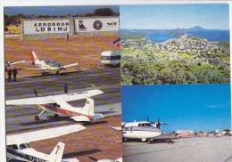 AK AERODROME KROATIEN MALI LOSINJ LUSSIN PICCOLO OLD POSTCARD - Aerodrome