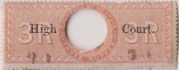 Br India Queen Victoria, 3 Rupees Special Adhesive Stamp HIGH COURT Overprint, Inde Indien - Zonder Classificatie