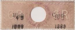 Br India Queen Victoria, 6 Rupees Special Adhesive Stamp HIGH COURT Overprint, Inde Indien - Zonder Classificatie