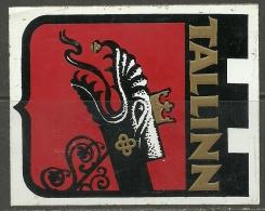 Aufkleber Sticker Tallinn Reval Ca 1985 - Stickers