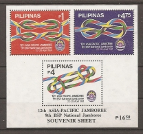 SCOUTS - FILIPINAS 1991 - Yvert #H30 - MNH ** - Movimiento Scout