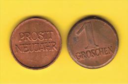 FICHAS - MEDALLAS // Token - Medal - AUSTRIA 1 Groschen Moneda De La Suerte - Duitsland