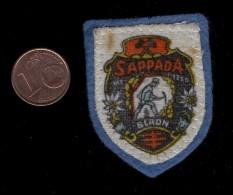 SAPPADA   VECCHIA  PATCH - TOPPA  SOUVENIR RICORDO ITALIA   TELA  PANNO TESSUTO - Ecussons Tissu