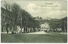 CARTOLINA  - CONEGLIANO DAL VIALE GIOSUE´ CARDUCCI   -  VIAGGIATA ANNO 1916 - Treviso