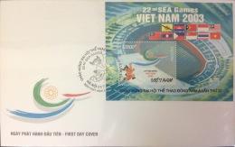 Vietnam: Seagames Sport Event 2003 In Vietnam - 2003 Block FDC - Fine And Rare (withdrawn) - Covers
