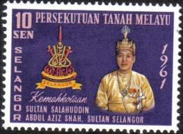 SE1 1961 Selangor Sultan Salahuddin Malaysia Stamp MNH - Malaysia (1964-...)