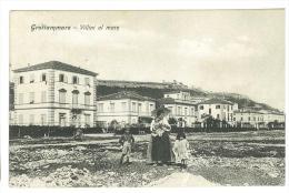 CARTOLINA - GROTTAMMARE - VILLINI AL MARE - ANIMATA -  VIAGGIATA ANNO 1914 - ASCOLI PICENO - Ascoli Piceno