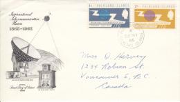 Falklands FDC Scott #154-#155 Set Of 2 ITU Centenary - Falkland