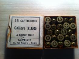 Rare Boite De Cartouches à Blanc Calibre 7,65 ...GEVELOT - Decorative Weapons