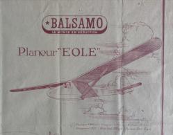 Plan De Construction - Planeur Eole - Balsamo - Avions