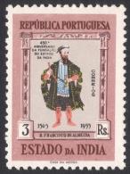 Portuguese India, 3 R. 1956, Sc # 534, Mi # 499, MH - Portuguese India