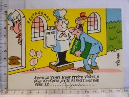Carte Commerciale DEROCHE  94 CHARENTON, Illustrateur TIENNO, Humour Restaurant, Oculiste - Other Illustrators