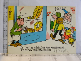 Carte Commerciale DEROCHE  94 CHARENTON, Illustrateur TIENNO, Humour Boulangerie,  école, Révizé Le Français - Other Illustrators