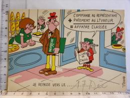 Carte Commerciale DEROCHE  94 CHARENTON, Illustrateur TIENNO, Humour Boulangerie,  Livre De Calcul, Affaire Classée - Other Illustrators