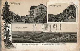 Jolie Carte Avec Menu De 1897 De L'Hôtel DEFRANOUX, Vue Sur Les Alpes Bernoises Et La Route De La Schlucht - Other Municipalities