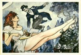 2/4 CPM Cartolina Milo Manara BD Fumetti - Fumetti