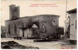 Rehainviller - L'église Après Le Bombardement - France