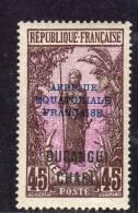 Oubangui N° 55  X 45 C. Sépia Et Lilas-rose, Trace De Charnière Sinon TB