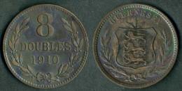 Guernesey - Moneta  8 Doubles - 1910 -  Rif. Ba088 - Guernesey