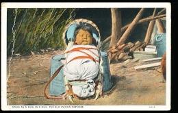 THEME INDIENS / Snug As A Bug In A Rug, Pueblo Indian Papoose / - Indiens De L'Amerique Du Nord