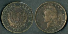 Argentina - Moneta  2 Cents - 1893 -  Rif. Ba108 - Argentine