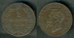 Italia - Moneta 2 Cent. 1862-  Rif. Ba026 - 1861-1946 : Kingdom