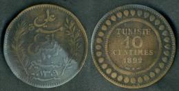 Tunisia - 10 Centimes - 1892  Rif. Ba112 - Tunisia