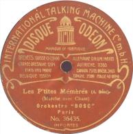 """Disque 78T / 27 Cm Deux Faces – Orchestre Bosc – Odéon N° 36435/36437 – """"Les P´tites Mémères"""" / """"Marche Des Chauffeurs"""" - 78 T - Disques Pour Gramophone"""