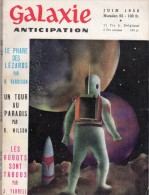 GALAXIE ANTICIPATION N° 55 (1ère Série) Juin 1958. Voir Sommaire. - Books, Magazines, Comics