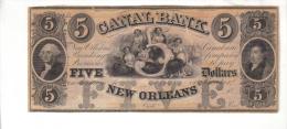 CANAL BANK---New Orleans    $5.00  DOLLAR  Bill  1840's Haxby LA-105-G12a---PMG 66-EPQ-UNC. - Etats-Unis