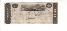 POSTAL NOTE--Cincinnati, Ohio    $1.00  DOLLAR  Note  1817-25 Remainder - Sin Clasificación