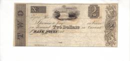 ELYRIA---Ohio    $2.00  DOLLAR  Bill  1800's  VERY SCARCE - Ohio