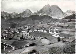 Vallée D'Aspe - Lescun - Le Village Et Le Pic D'Anie (cachet Perlé) - Autres Communes