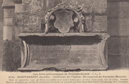 Montbenoit  Intérieux De L'eglise Monument De Painette Mesnier - Autres Communes
