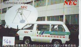 Télécarte Japon SATELLITE (560) ESPACE * TERRESTRE * MAPPEMONDE * TELEFONKARTE * Phonecard JAPAN * - Spazio