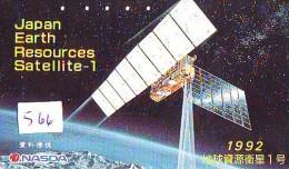 Télécarte Japon SATELLITE (566) ESPACE * TERRESTRE * MAPPEMONDE * TELEFONKARTE * Phonecard JAPAN * - Espacio