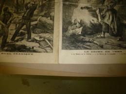 1898  LE PETIT PARISIEN : Le Crime De Vert à 5km De Mantes , Assassinée Et Brûlée; Un Duel A La Hache ...tragique; - Zeitungen
