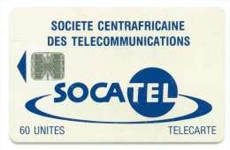 CENTRAFRIQUE REF MV CARDS CAR-26  60 U BLEU - Centrafricaine (République)