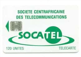 CENTRAFRIQUE REF MV CARDS CAR-17  120 U VERT - Central African Republic