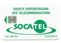 CENTRAFRIQUE REF MV CARDS CAR-27  120 U VERT - Central African Republic