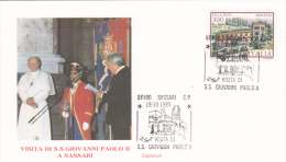 Pope John Paul II - Visit: 1985 Italy Sassari (A452) - Popes