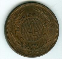 Uruguay 4 Centisimas  1869    VZ    #m70 - Uruguay