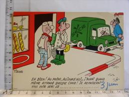 Carte Commerciale DEROCHE 94220 CHARENTON, Illustrateur TIENNO, Humour Boulangerie, Pêcheur, Attrapé Un PV, Gendarme - Other Illustrators