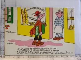 Carte Commerciale DEROCHE 94220 CHARENTON, Illustrateur TIENNO, Humour Boulangerie, Chasseur Fanfare Municipal Canard... - Other Illustrators