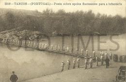 PORTUGAL - TANCOS - MILITARY - PONTE SOBRE APOIOS FLUTUANTES PARA A INFANTARIA - 1915 PC. - Santarem