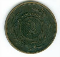 Uruguay 2 Centisimas  1869    VZ    #m71 - Uruguay