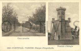 PORTUGAL - TANCOS - PARQUE DE ENGENHARIA-UMA AVENIDA,POMBAL E RELOGIO - 1915 PC. - Santarem