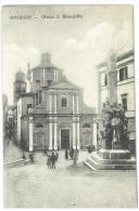 CARTOLINA  - FROSINONE  - CHIESA SAN BENEDETTO - ANIMATA -  VIAGGIATA NEL 1914 - Frosinone