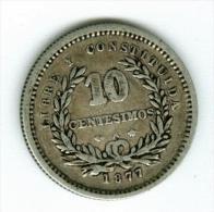 Uruguay 10 Centimos  1877 Silber     #m73 - Uruguay