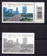 Austria 2013 > Mi 3062 > Vienna City Marathon > Set New MNH ** + Black Print - 1945-.... 2ème République